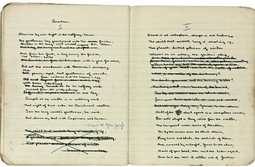 Dylan Thomas notebook