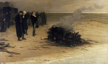 The_Funeral_of_Shelley_by_Louis_Edouard_Fournier